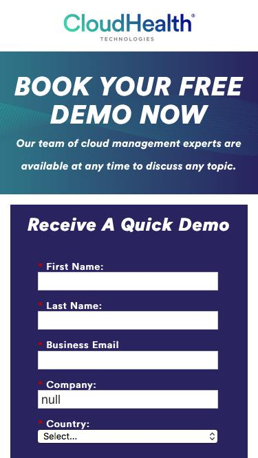 Request a Free Demo of the CloudHealth Cloud Management Platform