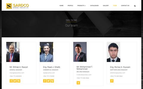Screenshot of Team Page sardco.com - Our team | SARDCOSARDCO - captured Nov. 19, 2016