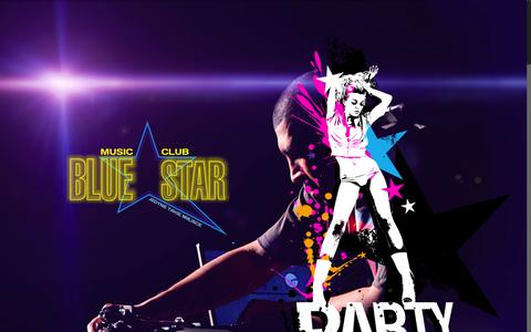 Screenshot of Home Page club-bluestar.pl - Music Club Blue Star - captured Oct. 11, 2015