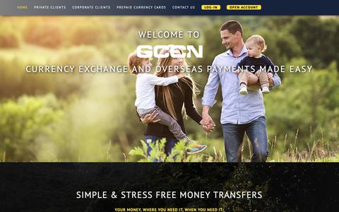 Screenshot of Home Page gcen.co.uk - GCEN Global Currency Exchange & Money Services - captured Sept. 28, 2018