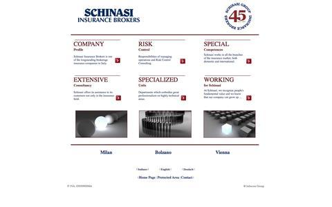 Screenshot of Home Page schinasi.eu - Schinasi Insurance Brokers, intermediazione e consulenza assicurativa - captured Oct. 4, 2014