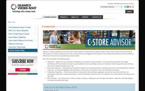 Screenshot of Blog gilbarco.com - C-Store Blog | Gilbarco - captured Nov. 7, 2016