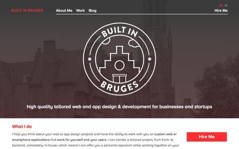 Screenshot of Home Page builtinbruges.com - Front-End Web Design & Full Stack Web Development — Built In Bruges - captured Sept. 30, 2014