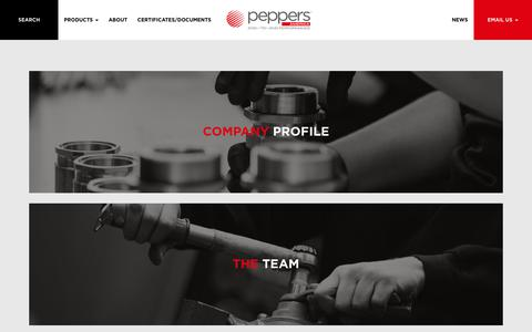 Screenshot of About Page peppersamerica.com - Peppers Cable Glands | Superior Quality Cable Glands | Worldwide - captured Sept. 27, 2018
