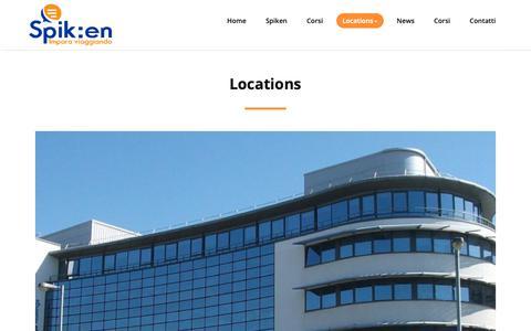 Screenshot of Locations Page spiken.it - Locations - Spik:EN - captured Oct. 18, 2018