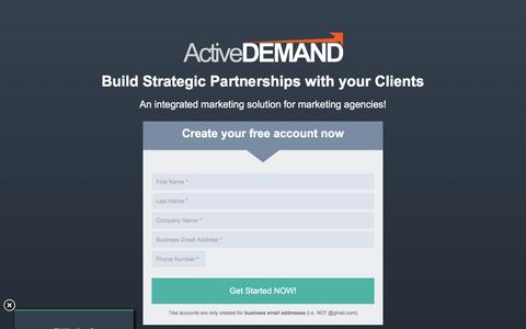 Screenshot of Landing Page activedemand.com - ActiveDEMAND Marketing Agency Free Trial - captured Oct. 25, 2016