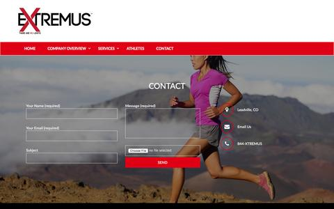 Screenshot of Contact Page goextremus.com - Contact - Goextremus - captured Feb. 2, 2016