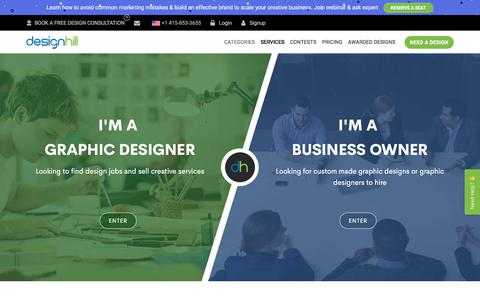 Screenshot of Services Page designhill.com - How It Works | Designhill - captured Aug. 20, 2019