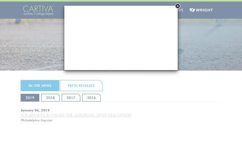 Screenshot of About Page cartiva.net - Cartiva - captured Jan. 17, 2019
