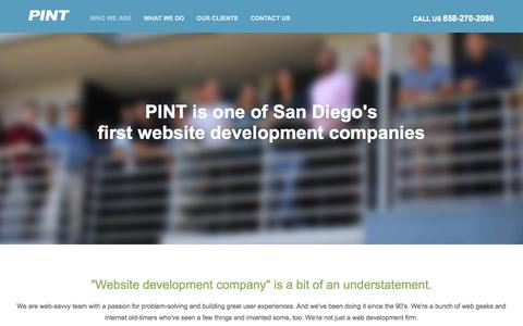 Screenshot of Team Page pint.com - PINT | Website development + digital agency - captured July 3, 2015