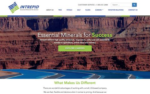 Screenshot of About Page intrepidpotash.com - About Us - Intrepid Potash - captured Sept. 19, 2018