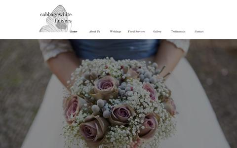 Screenshot of Home Page cabbagewhiteflowers.co.uk - Surrey Wedding Florist Surrey and Sussex - Bespoke - captured July 17, 2015