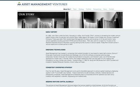 Screenshot of About Page assetman.com - Asset Management Ventures ⟩ About Us - captured Oct. 4, 2014