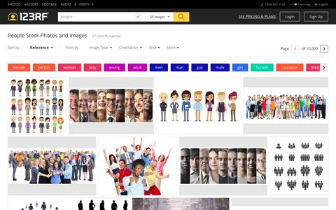 Screenshot of Team Page 123rf.com - People Stock Photos. Royalty Free People Images - captured July 4, 2018