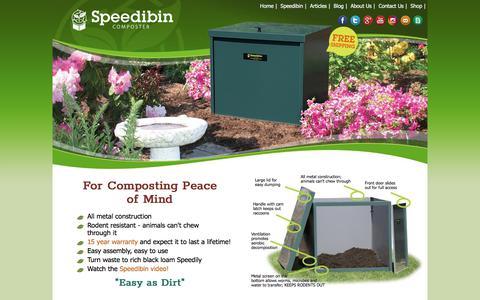 Screenshot of Home Page speedibin.com - Speedibin Composters - captured Sept. 21, 2018