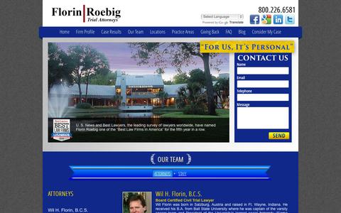 Screenshot of Team Page florinroebig.com - Florin Roebig Florida Attorneys | Tampa, St. Petersburg, Clearwater & Palm Harbor - captured Oct. 6, 2014