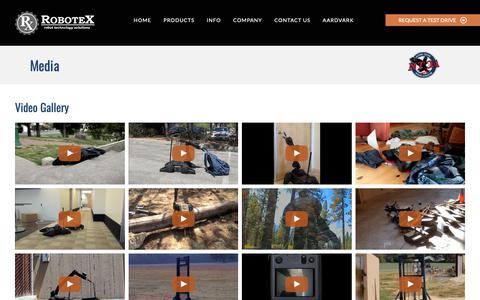 Screenshot of Press Page robotex.com - Media | Police Robot Video Gallery | Tactical Robot Photos - captured June 9, 2019