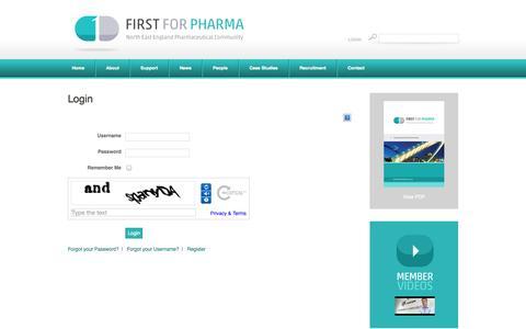 Screenshot of Login Page firstforpharma.co.uk - Login - captured Sept. 30, 2014