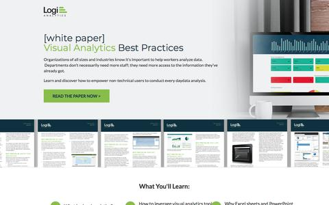 Screenshot of Landing Page logianalytics.com - Visual Analytics Best Practices | Logi Analytics - captured March 6, 2018