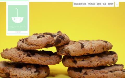 Screenshot of Home Page mysweetpicnic.com - Fotografia de Producto, Publicitaria, Bebes y Bodas | MySweetPicnic - captured Oct. 9, 2014
