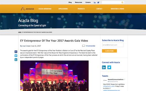 EY Entrepreneur Of The Year 2017 Awards Gala Video - Acacia Communications