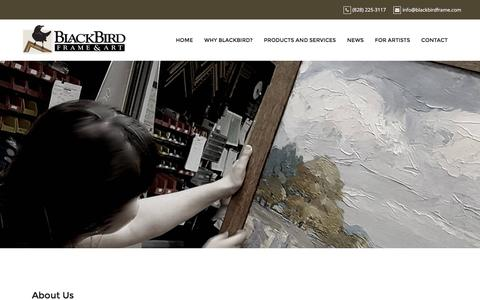 Screenshot of About Page blackbirdframe.com - About Us – BlackBird Frame and Art - captured Nov. 22, 2016