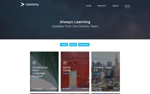 Screenshot of Blog continu.co - Continu   Blog - captured Feb. 9, 2016