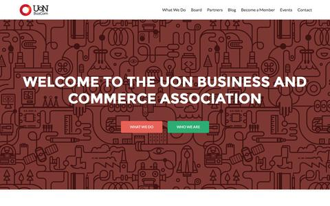 Screenshot of Home Page uonbuscom.com - UoN BusCom | The University of Newcastle Business & Commerce Association - captured Feb. 28, 2016
