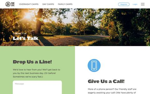 Screenshot of Contact Page pinecove.com - Contact Us - Pine Cove - captured Oct. 21, 2017