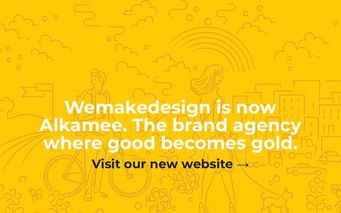 Screenshot of Home Page wemakedesign.com - Wemakedesign is now Alkamee - captured Oct. 19, 2018