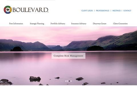 Screenshot of Home Page boulevardwealth.com - Boulevard Wealth Management Home - captured Feb. 8, 2016