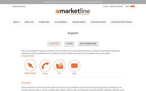 Screenshot of Support Page marketlineonline.com - Support                      – MarketLine - captured July 26, 2018