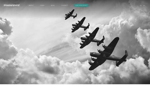Screenshot of Terms Page maneuver.be - Strategic Design Agency | maneuver - captured Oct. 18, 2017