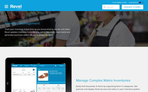 Inventory Management   iPad POS Features   Revel Systems