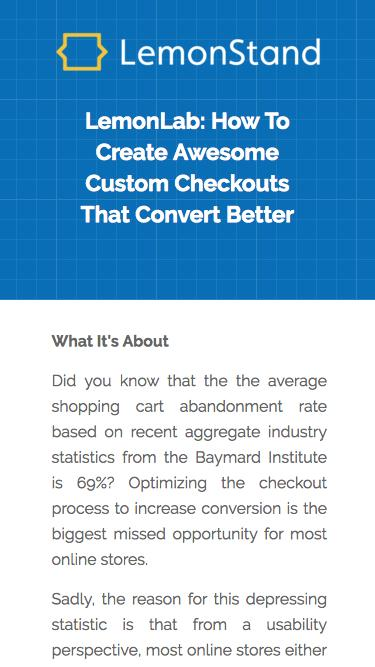 LemonLab: How To Create Awesome Custom Checkouts That Convert Better