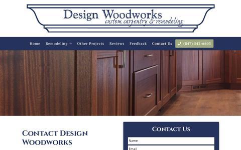 Screenshot of Contact Page designwoodworks.com - Contact Us | Design Woodworks - captured Oct. 12, 2019