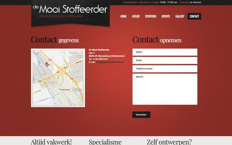 Screenshot of Contact Page demooistoffeerder.nl - contact - De Mooi Stoffeerder - captured Oct. 28, 2018