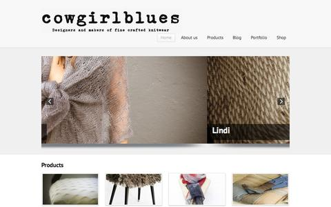 Screenshot of Home Page cowgirlblues.co.za - cowgirlblues - captured Sept. 30, 2014