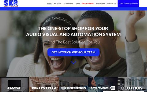 Screenshot of Home Page skr.mu - SKR Communication – The best consumer electronics in Mauritius - captured Dec. 17, 2018