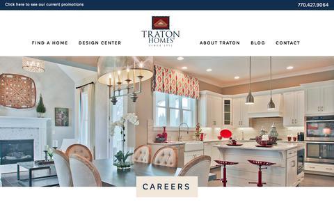Screenshot of Jobs Page tratonhomes.com - Careers - Traton Homes - captured April 25, 2018