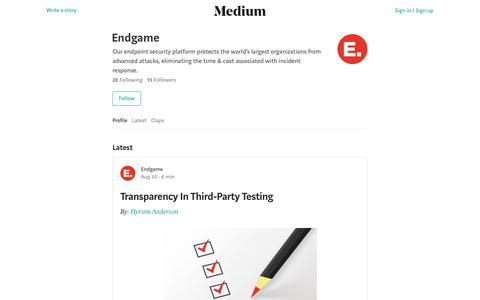 Endgame – Medium