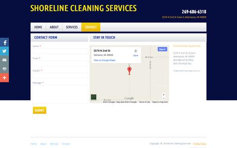 Screenshot of Privacy Page Contact Page shorelinecleaningservices.com - Contact - captured Oct. 23, 2014