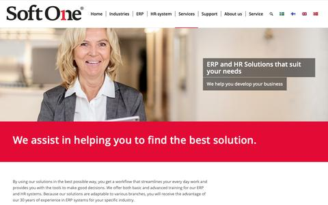Screenshot of Services Page softone.se - Services - Softone - captured Nov. 10, 2018