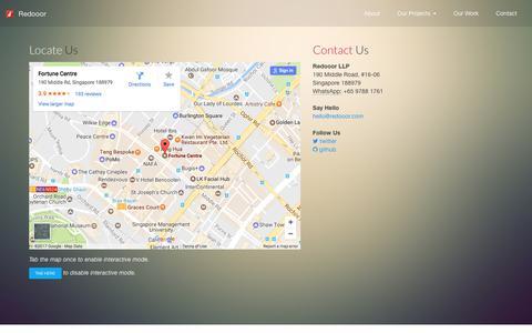Screenshot of Contact Page redooor.com - Contact Redooor today for an appointment. - captured June 13, 2017