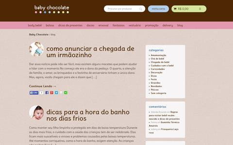 Screenshot of Blog babychocolate.com.br - blog - Baby Chocolate - captured July 25, 2015