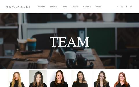 Screenshot of Team Page rafanellievents.com - Team | Rafanelli Events - captured Feb. 16, 2019
