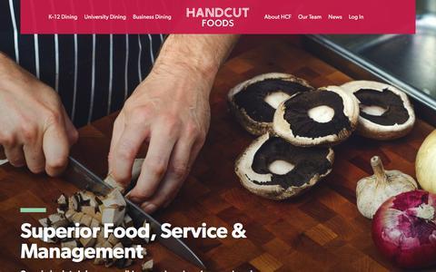Screenshot of Home Page handcutfoods.com - HandCut Foods / Superior Food, Service & Management - captured July 15, 2018