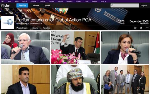 Screenshot of Flickr Page flickr.com - Flickr: Parliamentarians for Global Action PGA's Photostream - captured Nov. 1, 2014
