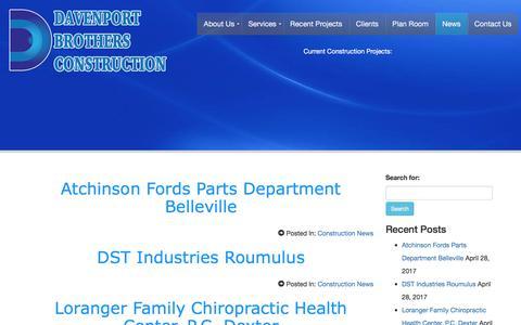 Screenshot of Press Page davenportbrothers.com - Blog - captured Oct. 12, 2017