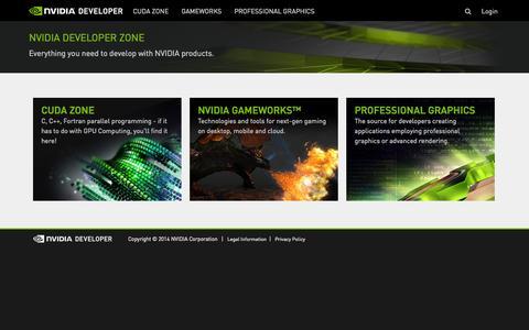 Screenshot of Developers Page nvidia.com - NVIDIA Developer - captured Sept. 16, 2014